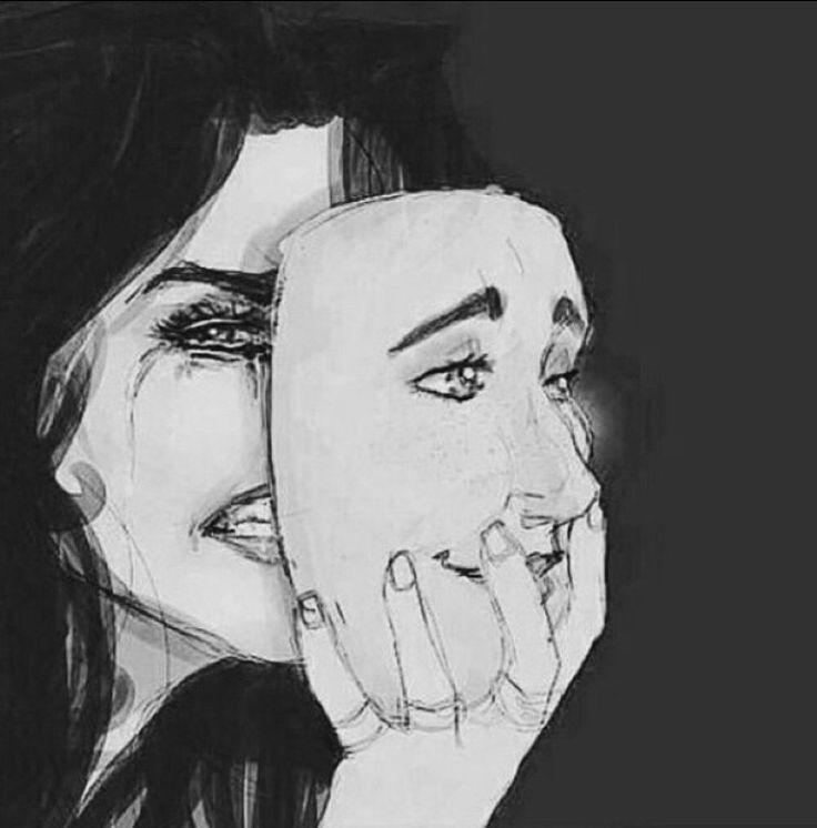 happy mask sad face