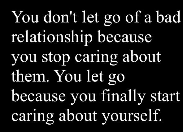 let go of bad relationships