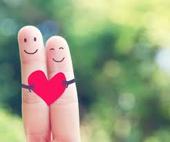 Finger love heart cute!
