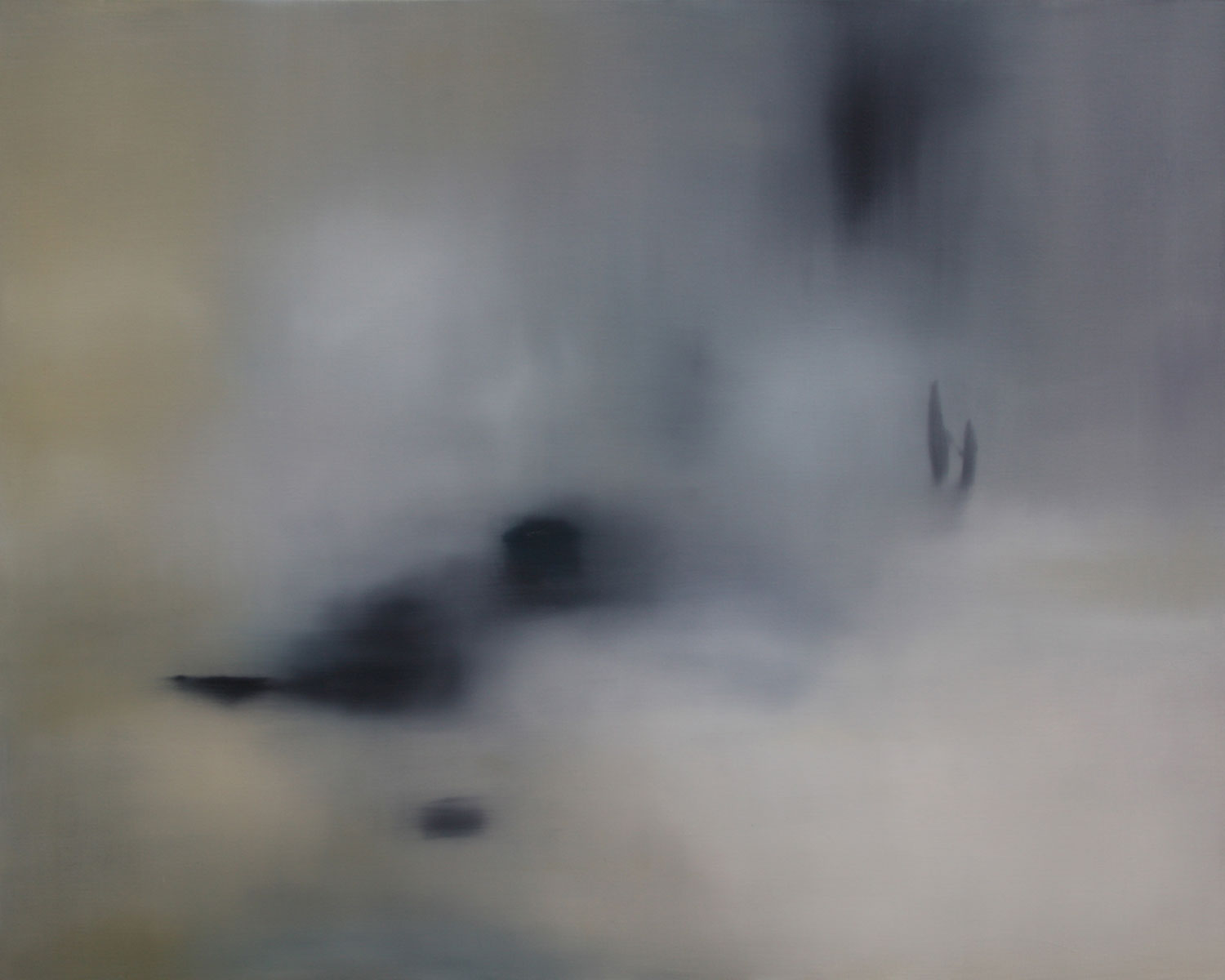 """Title:   """"It's nothing new. We've been through it before.""""    Medium:  Oil on linen.   Size:  122 x 152 cm   SOLD"""