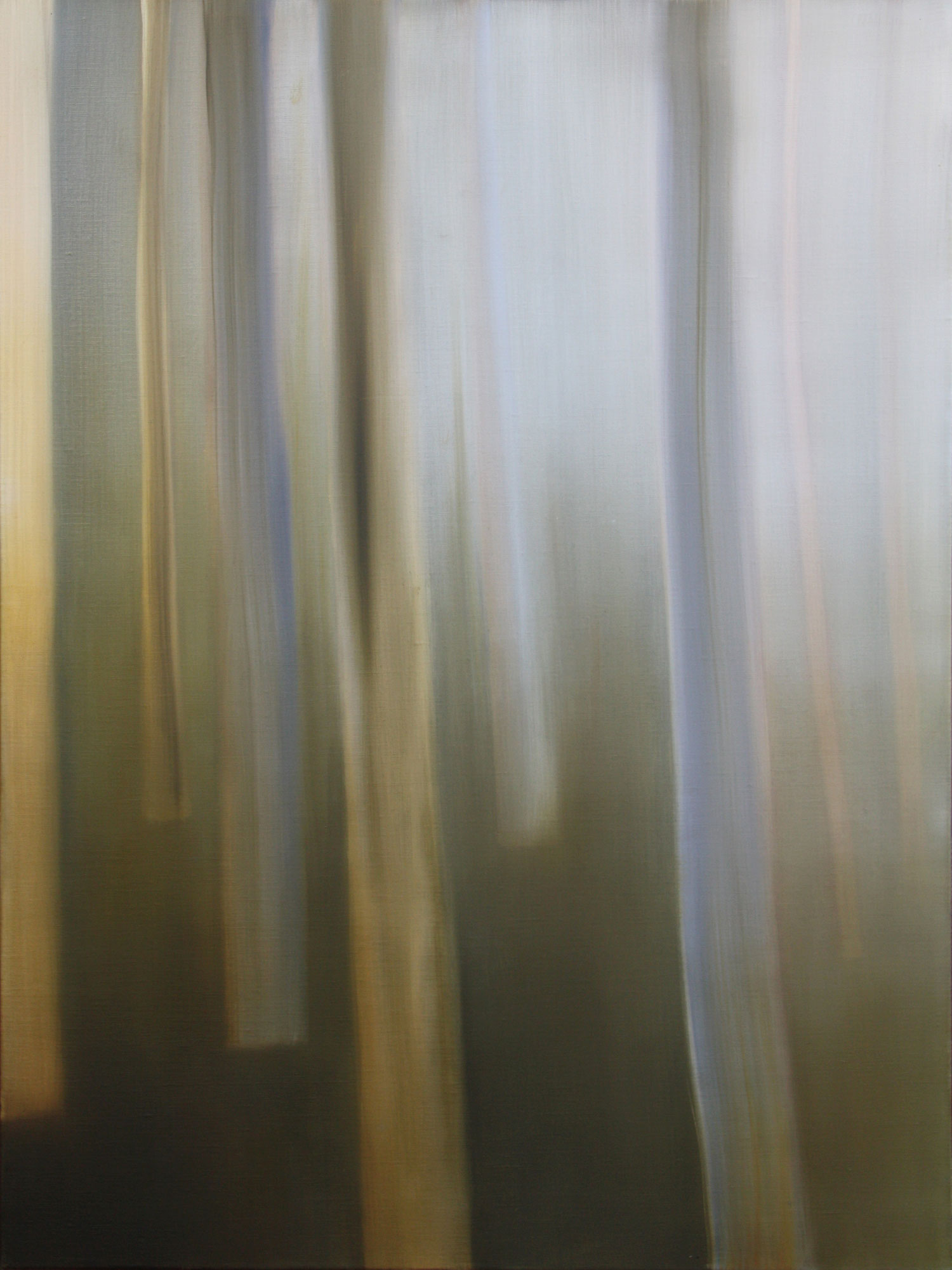 """Title:   """"Wasps take detours through the house. I'm amazed at their sense of direction and skillful maneuvering through the small bathroom window.""""    Medium:  Oil on linen.   Size:  122 x 91 cm"""