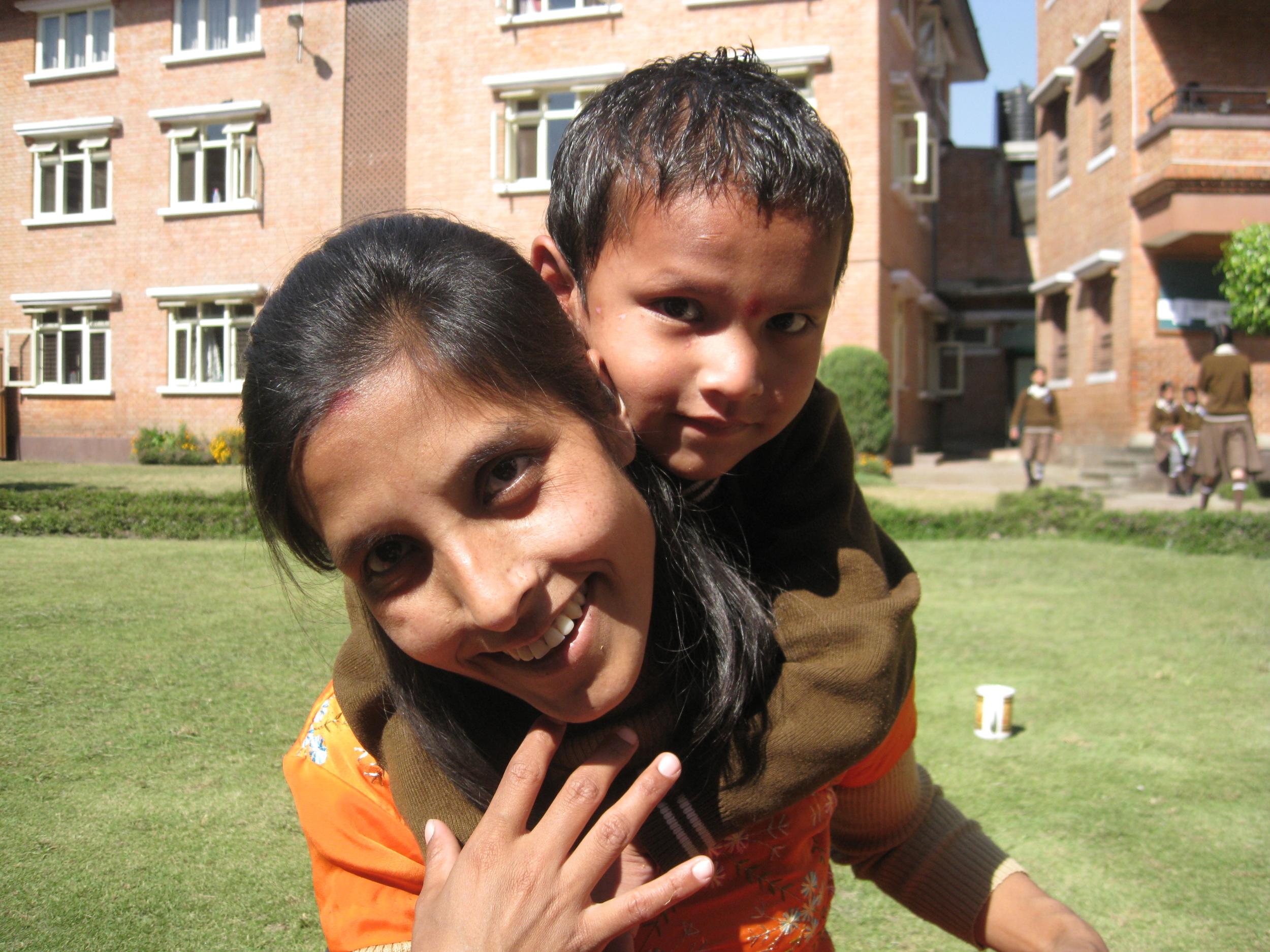 Radhika and her son