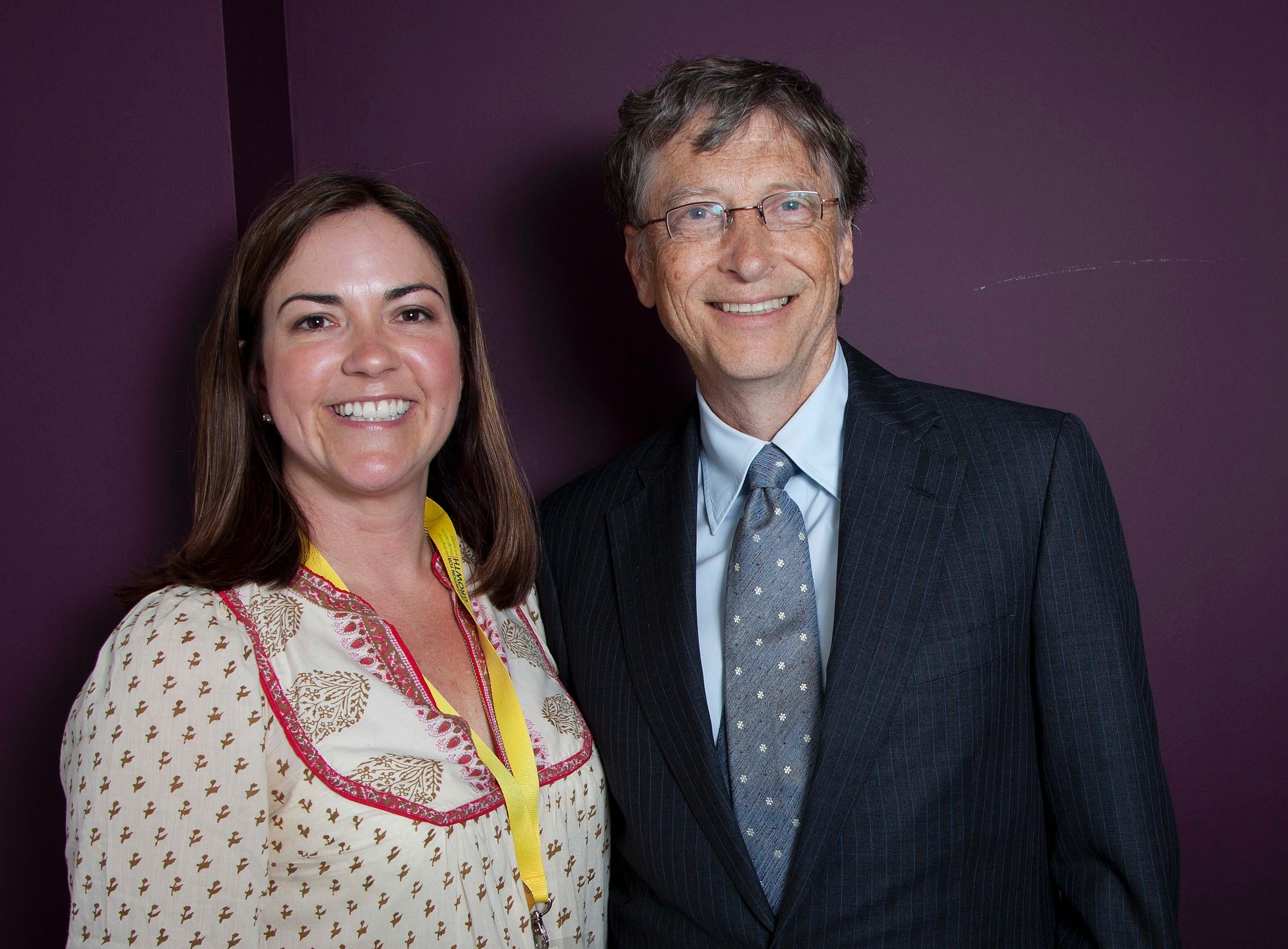 Sharon Hendry and Bill Gates
