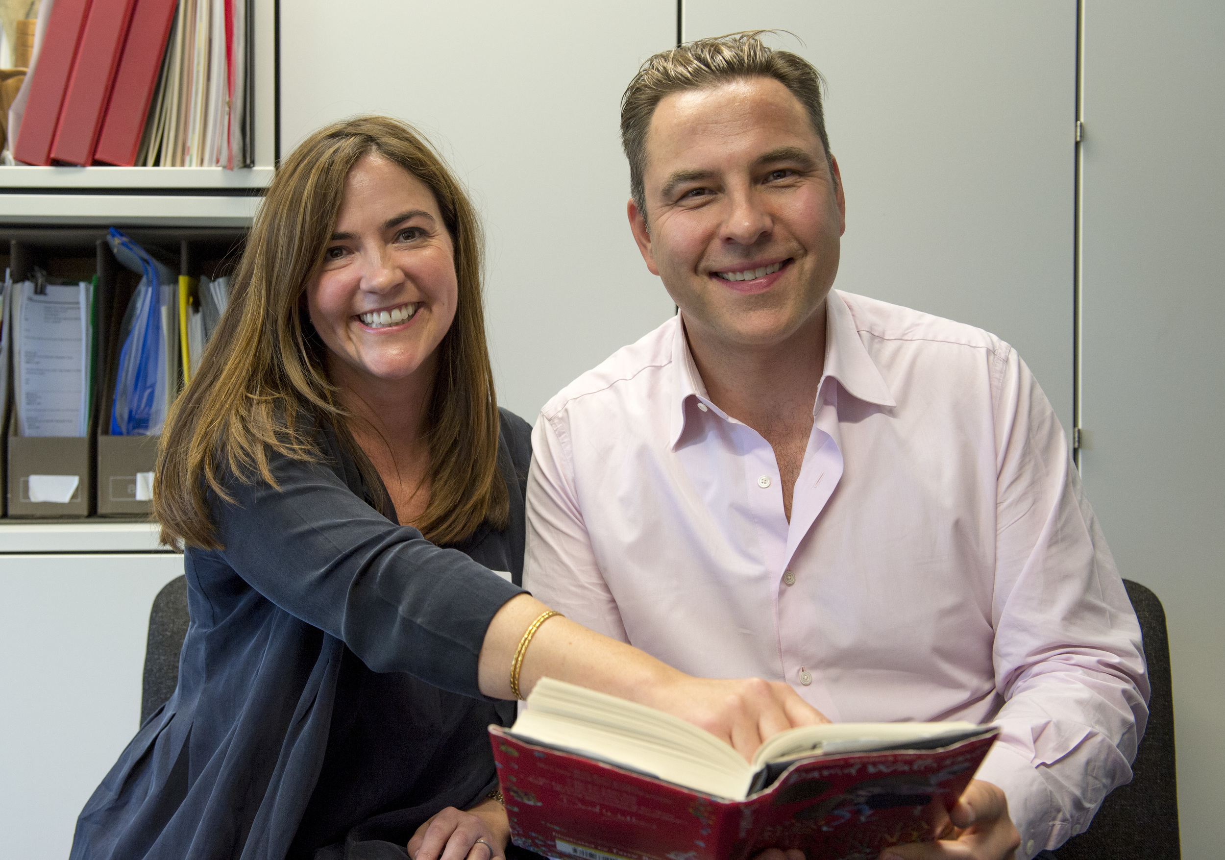 Sharon Hendry and David Walliams