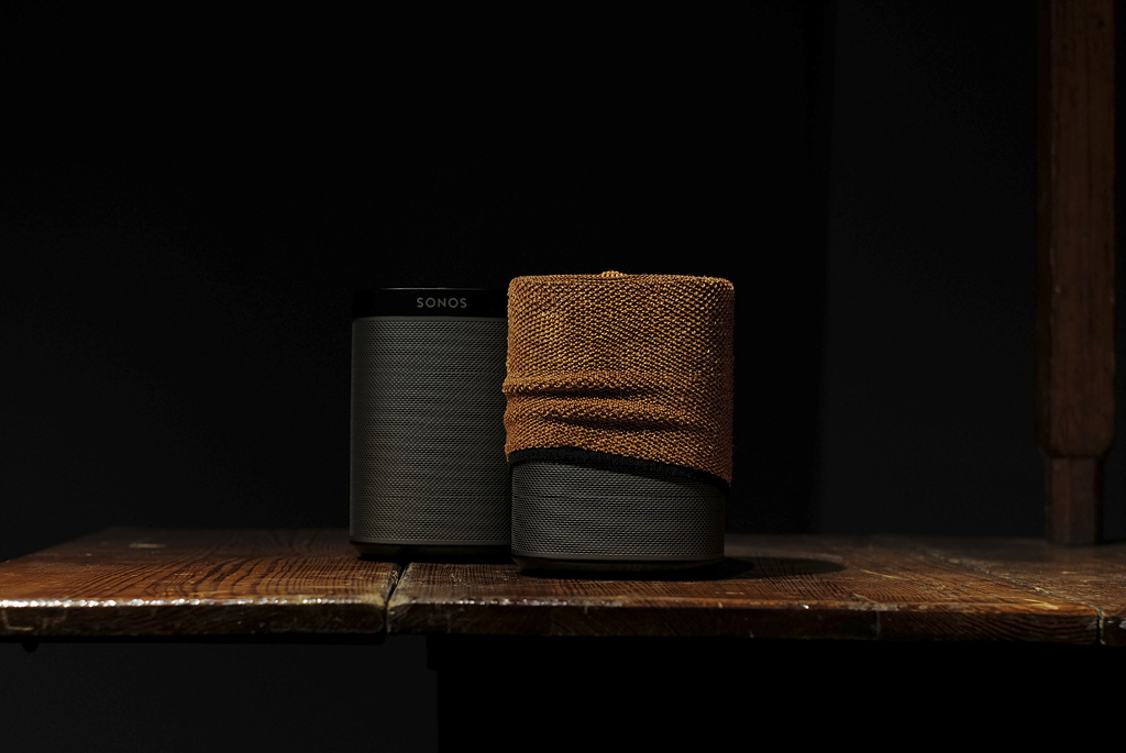 SONOS PLAY:1   met Soundskins PLAY:1 Copper
