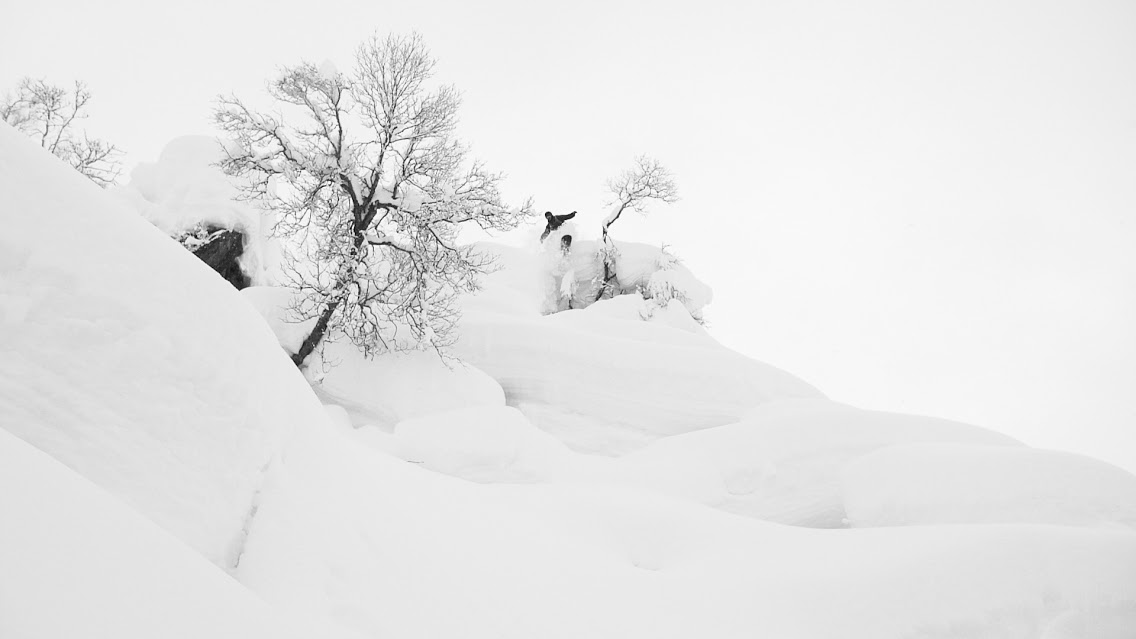 The Pow in its right deep powder and strapped to the feet of local shredder Lars Kvisgaard Melbye.