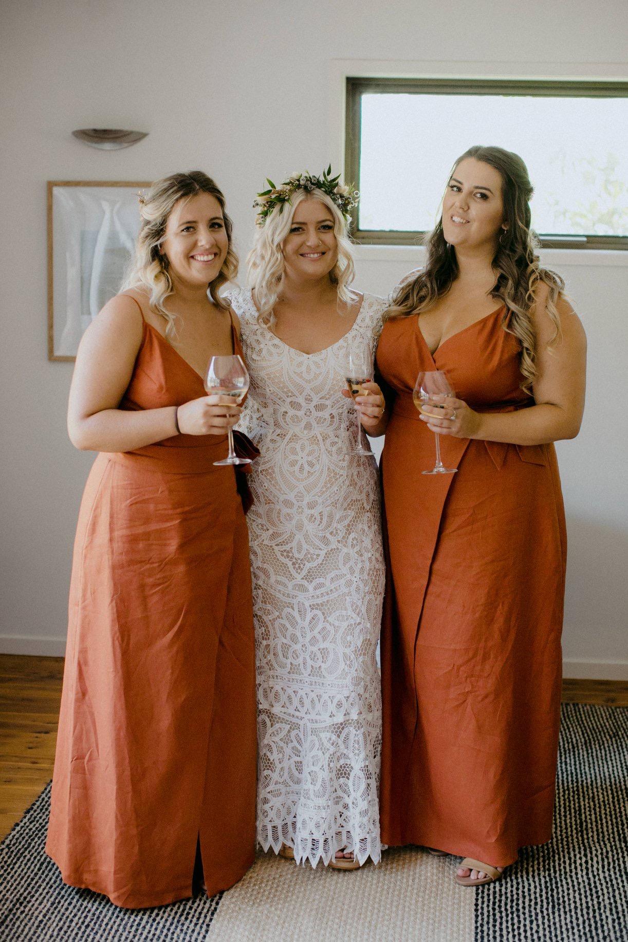 Burnt Orange Bridesmaid Dress,orange bridesmaid dresses,