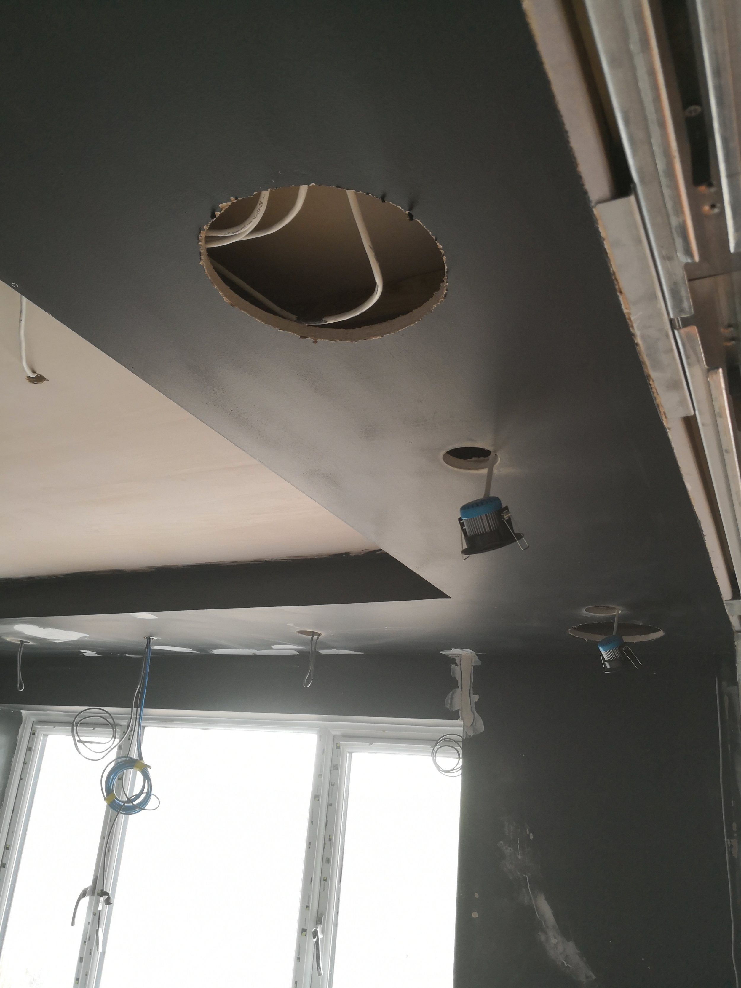 Cut outs ready for in ceiling speakers