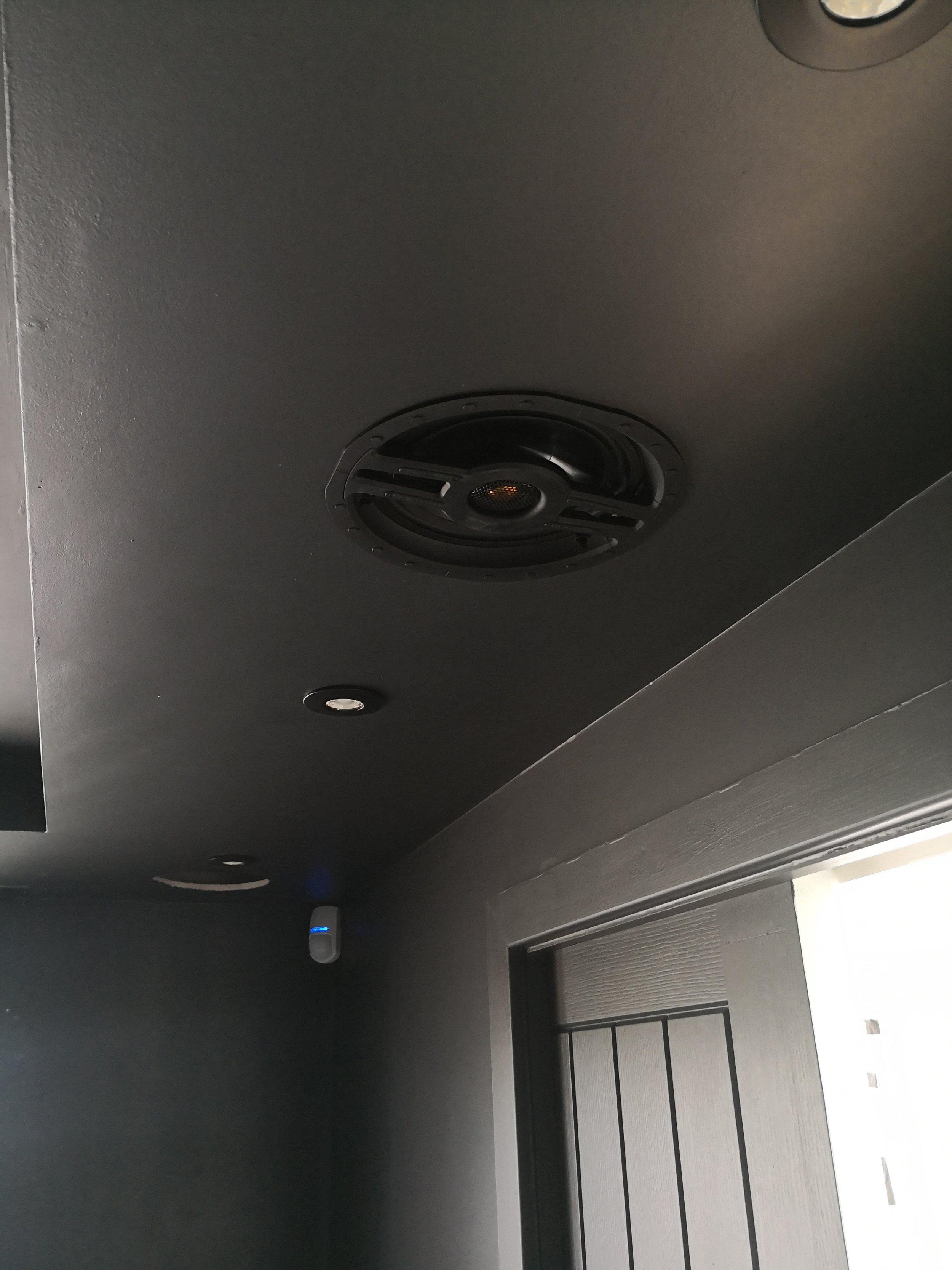 In ceiling surround speakers