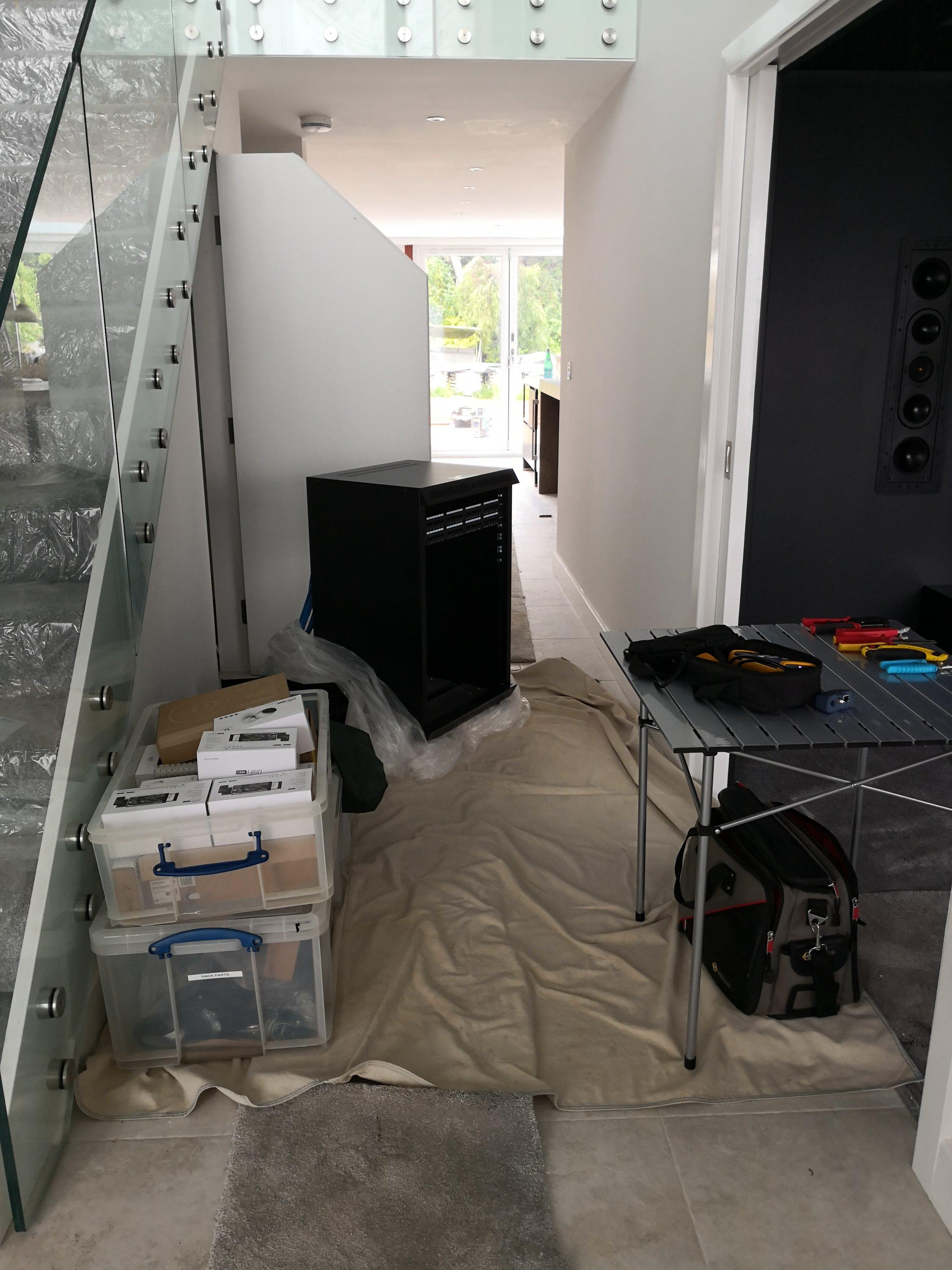 Data rack building