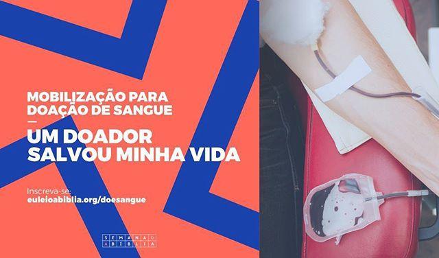"""A Semana da Bíblia de Porto Alegre 2017 é uma mobilização de voluntariado com atividades, ações e campanhas em prol da cidade. Uma delas é a campanha de doação de sangue """"Um Doador Salvou Minha Vida"""". Quer participar?  Mais informações: www.euleioabiblia.org/doesangue  #SemanaDaBíbliaPOA #EuLeioABíblia #De4a10deDezembro"""