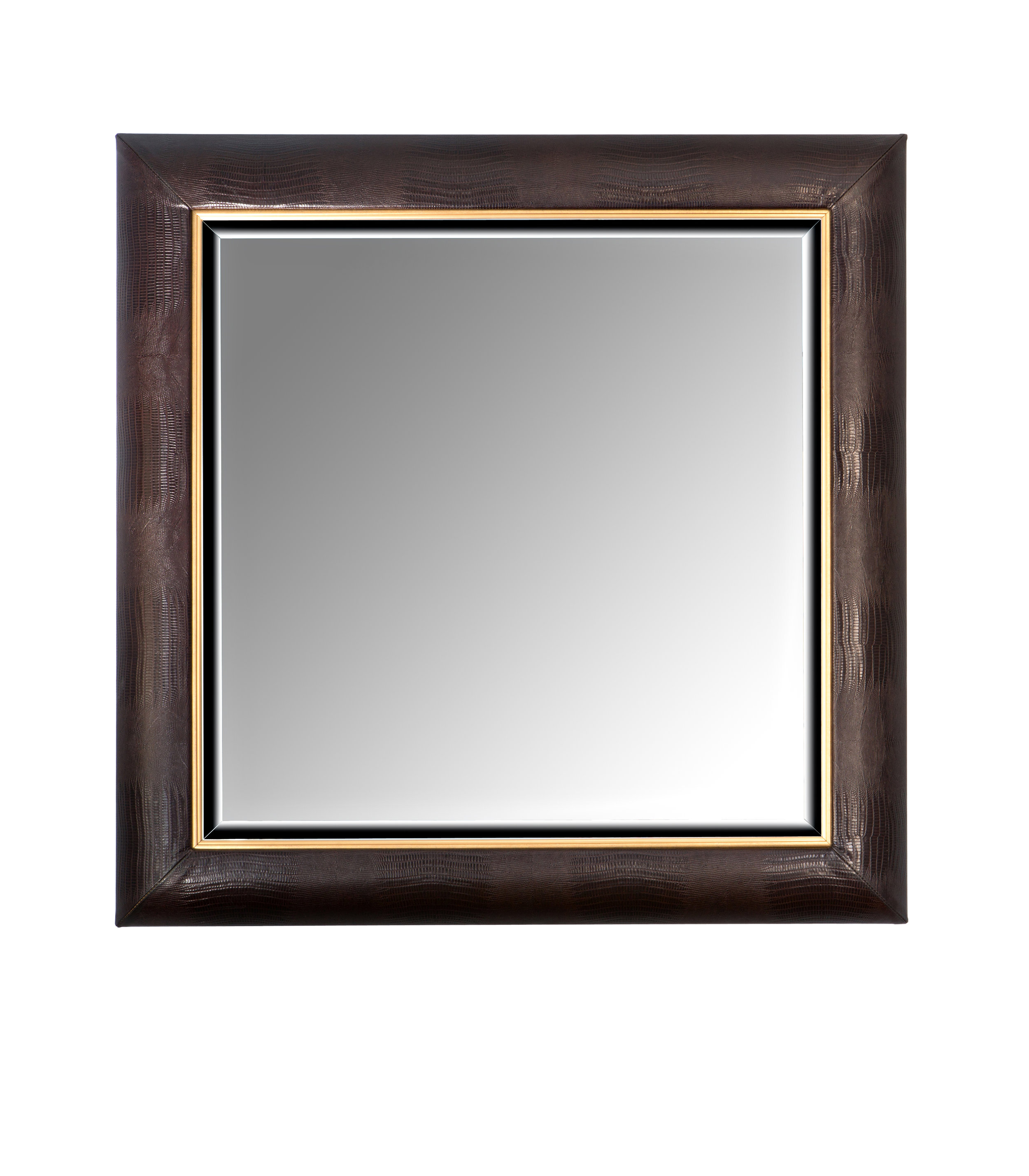 Python Embossed Italian Leather Framed Mirror