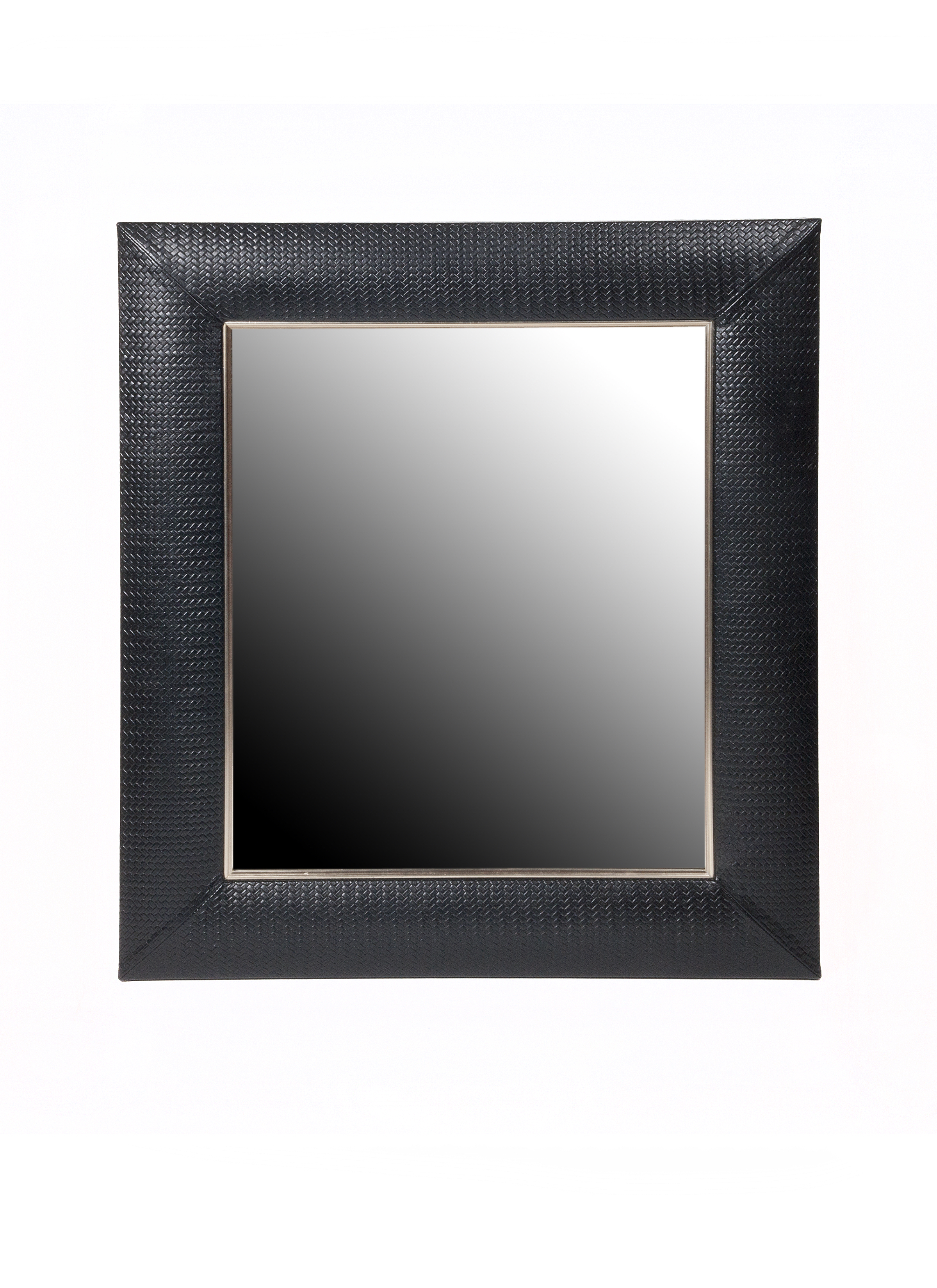 Embossed Italian Leather Framed Mirror