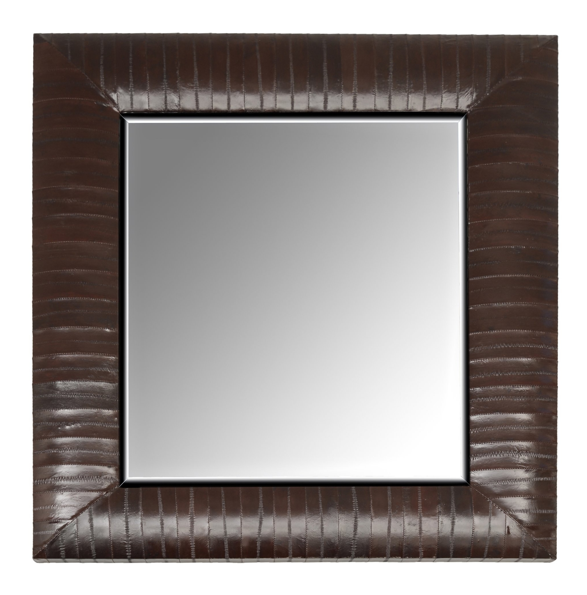 Genuine Eel Skin Framed Mirror