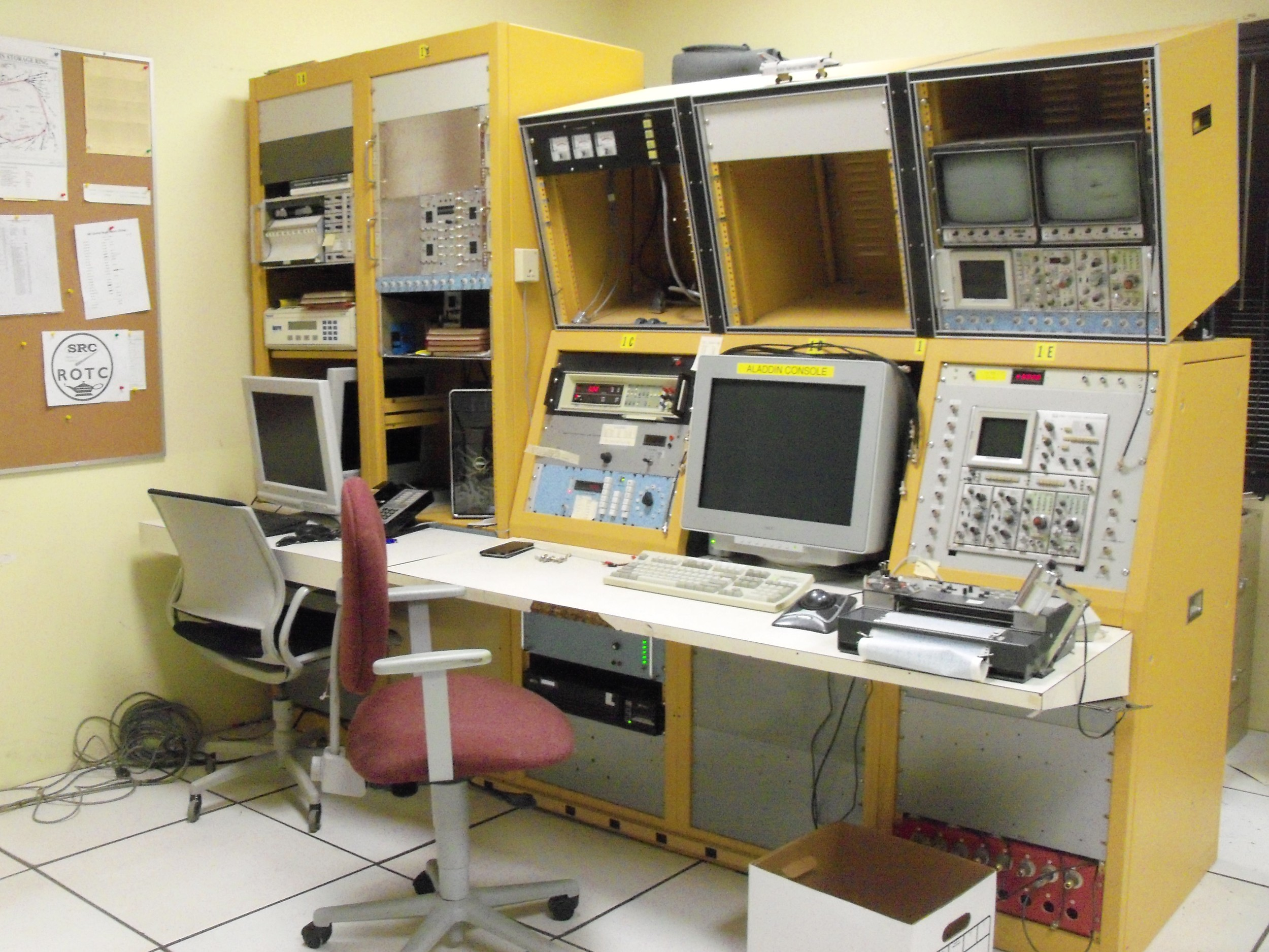 The control room in disassembly.  Photo: Mary Severson
