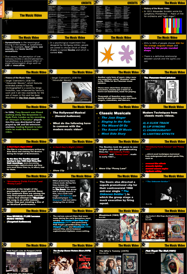 lightthemusic2 :     A brief history of the music video from Eisenstein to Spike Jonze found on docstoc. Author unknown.