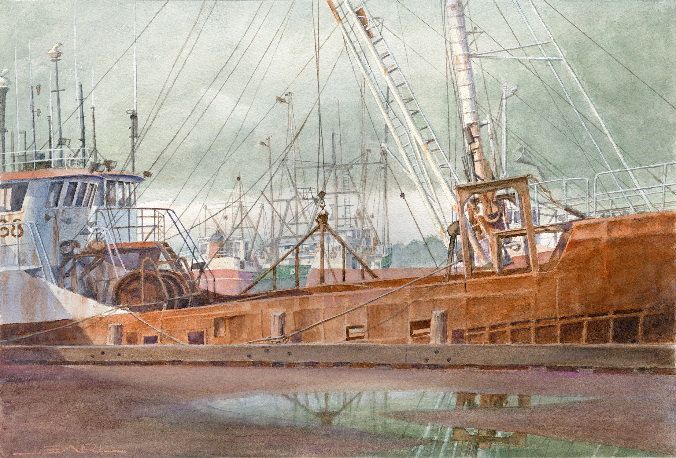 New Bedford Dockside by Jim Earl