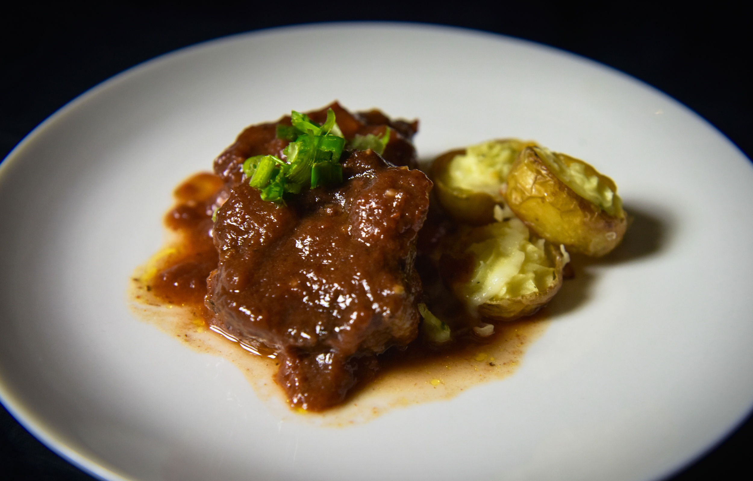 Slow-braised Red Wine Chuck with Twice Baked Mini Potatoes