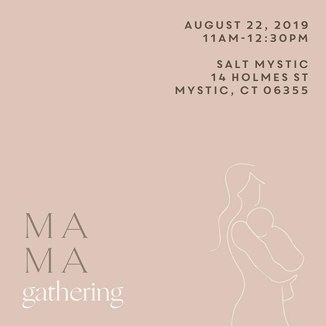 🕊 MAMA GATHERING 🕊 join us for an intimate mama gathering in collaboration with @pattimurphy of @saltmystic 💫 Thursday, August 22, 2019 11:00am - 12:30pm. Coffee, fresh juice, + lite bites will be served ⚡️We are excited that @megtantillorn will be joining us! She specializes in women's health, gut health and fertility & will be chatting about postpartum depletion (women suffer from this even years after giving birth)☕️ Caffeinate, mingle with local mamas and shop some mama curated goods! Limited spots available(15 ppl) link in bio over at @saltmystic to reserve your spot or DM us and venmo -  @saltmystic  Tickets are $5. This is a baby-friendly event. Mamas + babies 12 mo. or younger are welcomed! Also not limited to just mamas, could be soon to be mamas or women aspiring to be mamas ♥️
