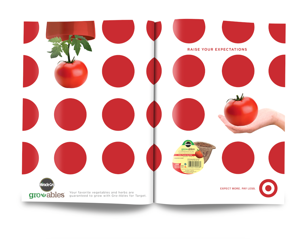 Co-branded print campaign with Target