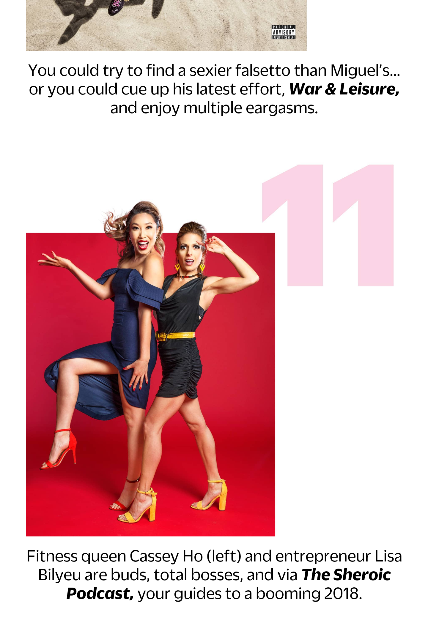 Featured in Cosmopolitan January 2018 issue.