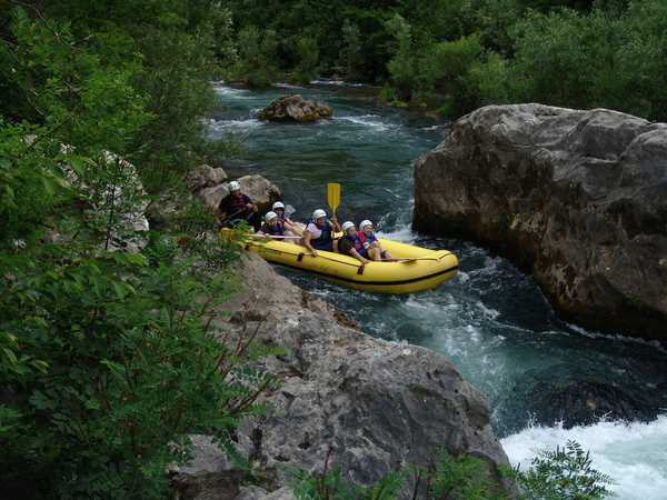 White river rafting in Croatia - Zrmanja river
