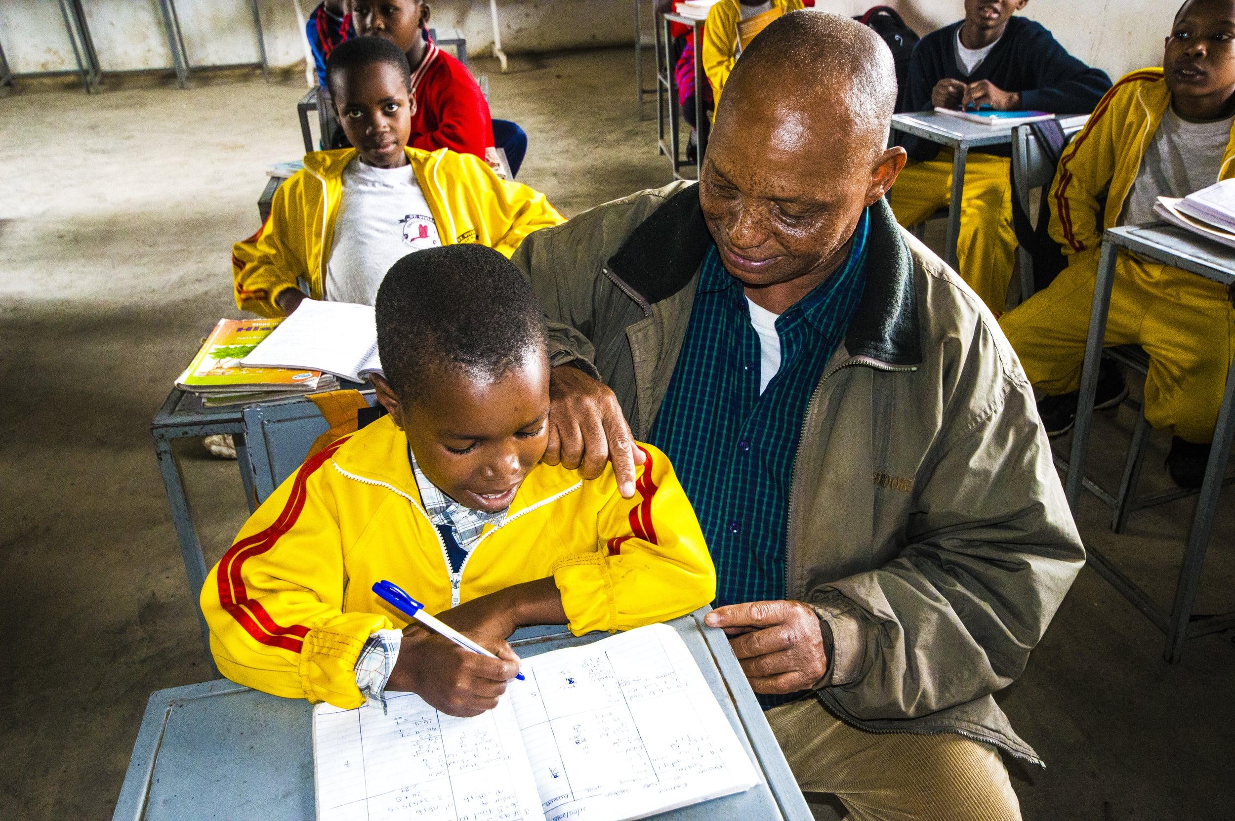 Kiligolf donated school books to the orphans at St Vivian English Medium Primary School