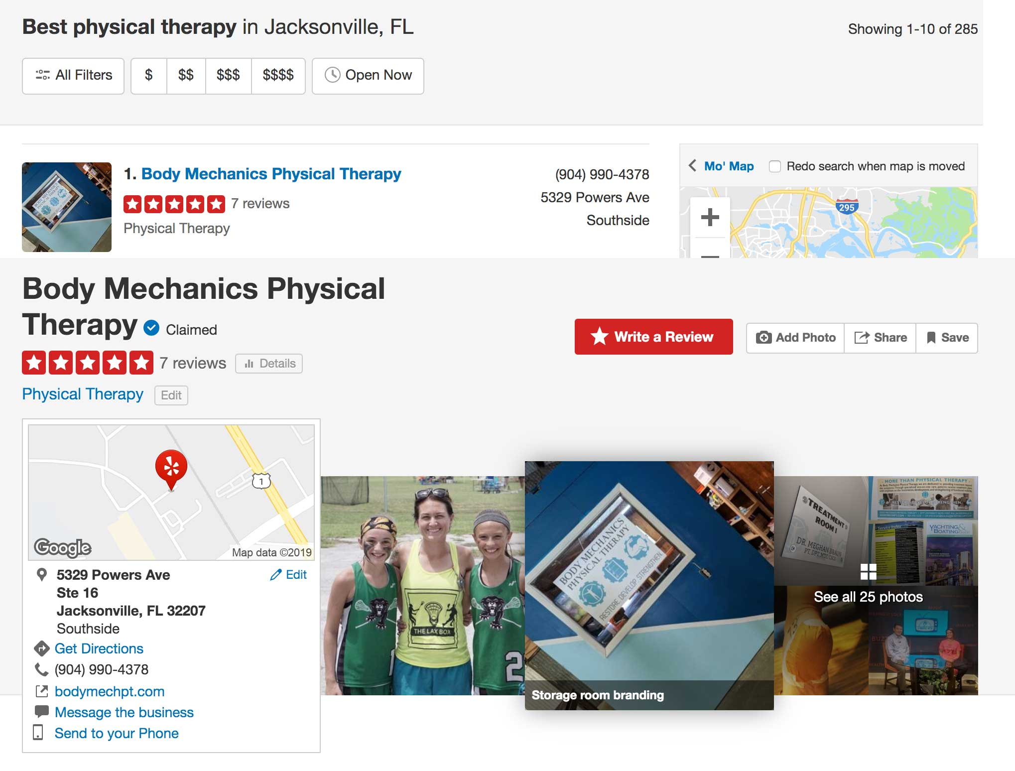 Top Rated Physical Therapist Jacksonville, Florida