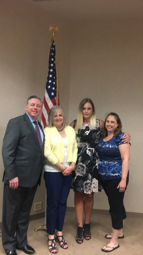 Platte County Prosecuting Attorney Eric Zahnd, Janet Williams, Pam Clark, Jill Casey