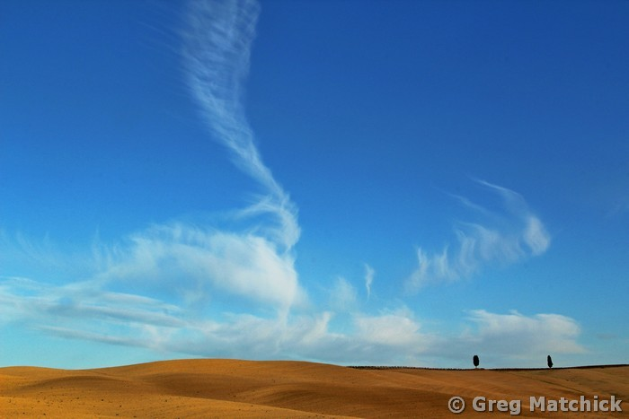 Clouds In Flight Over a Tuscan Ridge 2
