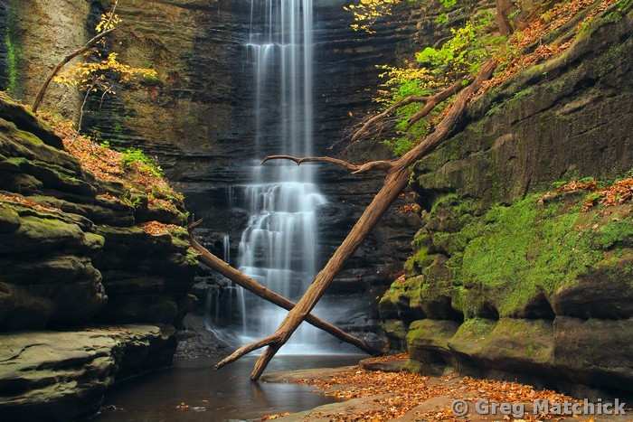 Lake Falls 1 at Matthiessen State Park, Illinois