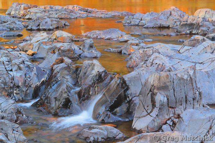 Golden Reflections at Johnsons Shut-Ins 2