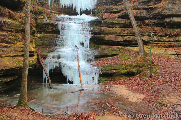 Frozen Waterfall in Hickory Canyons