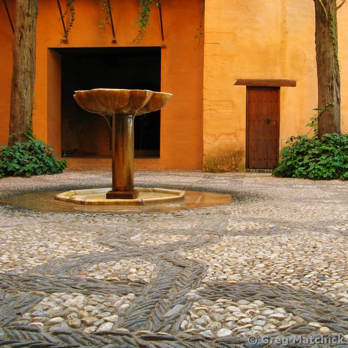 Alhambra Courtyard and Fountain