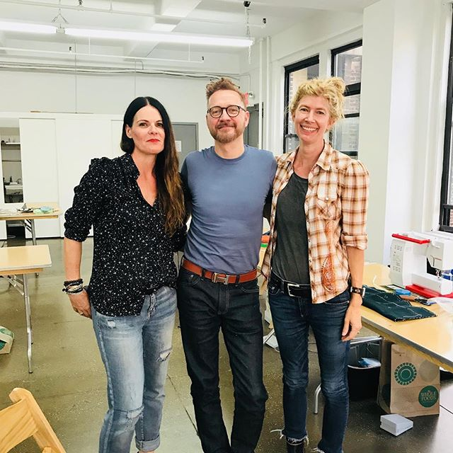 Dinner with two of my favorite people @featherstitchavenue and @thomas_von_nordheim  who is teaching in the most amazing space this week in the garment district. Incredible views from @thefactory8 #couture #sewingfriends #tailoring #bespoke #teaching