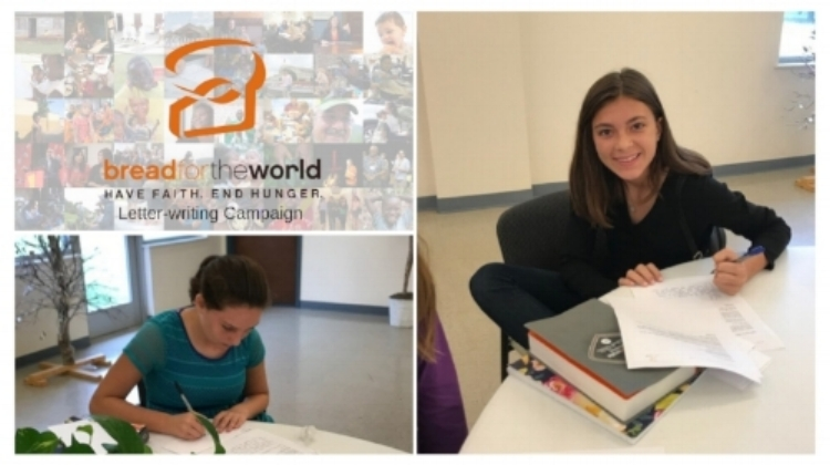 Even our youth took up pens to ask our Senators for help in ending world hunger.