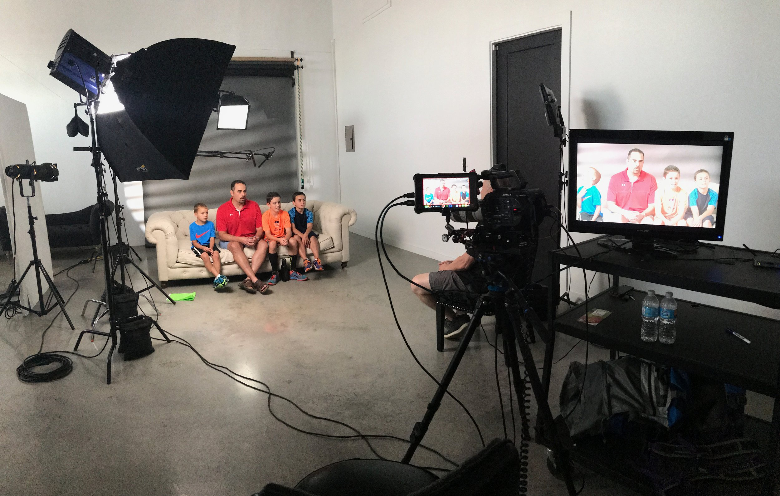 Video interviews for the foster & adoption stories shot in our studio