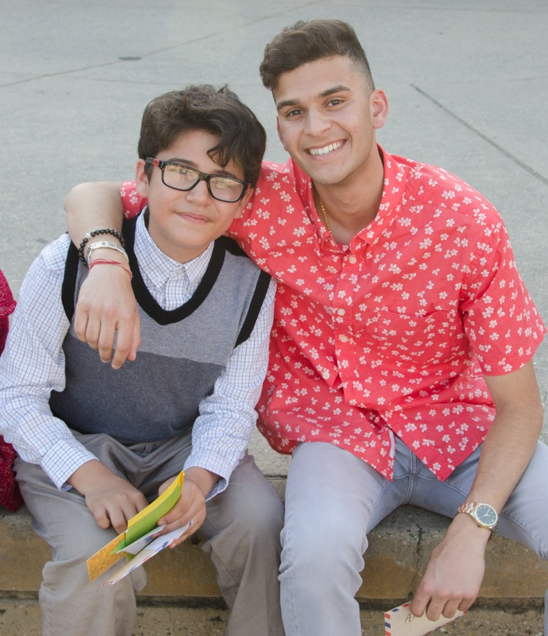 Nicholas, pictured with his teaching fellow Devansh during the 2018 summer program