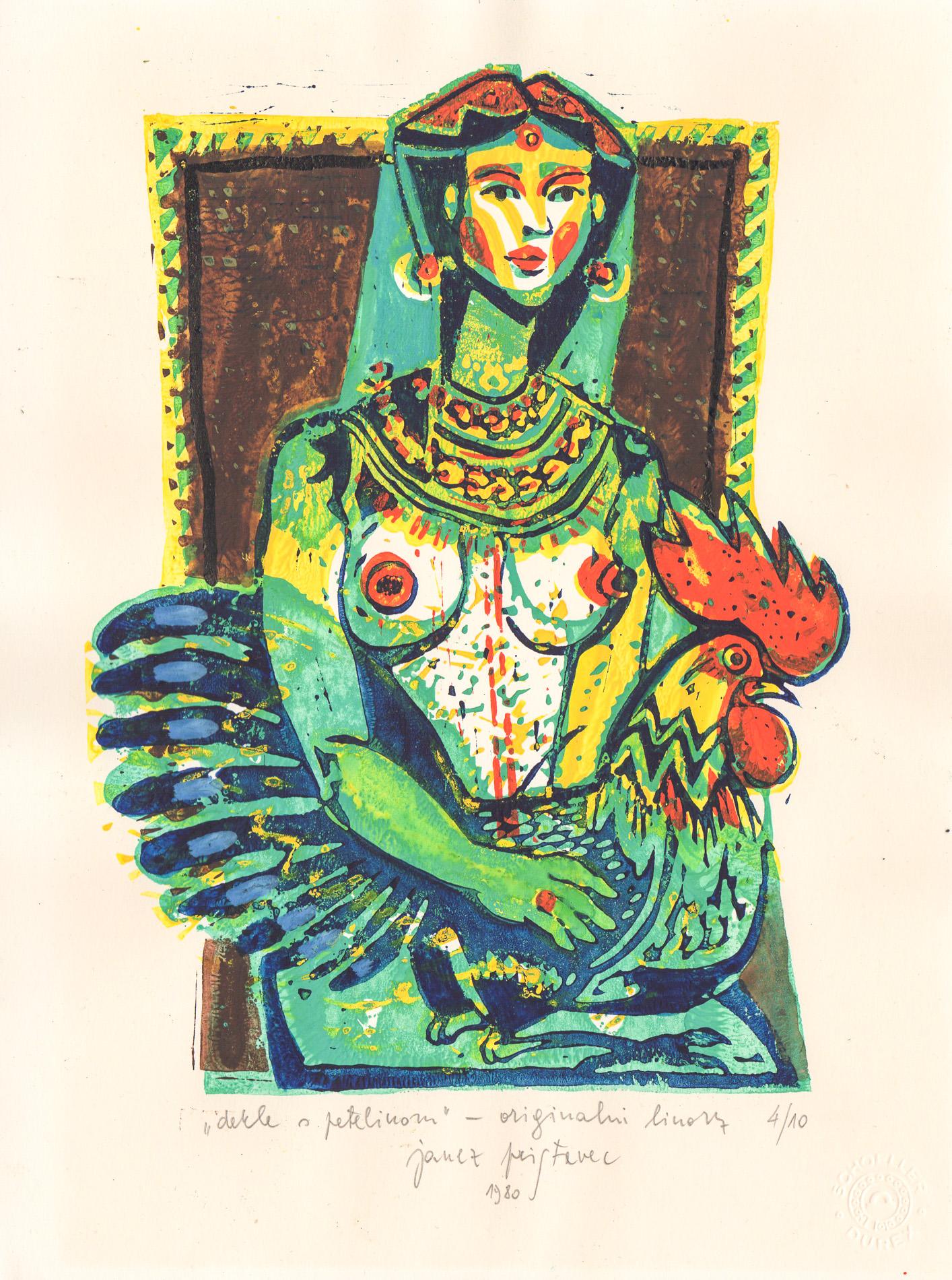 Janez Pristavec - Dekle s petelinom - 1980