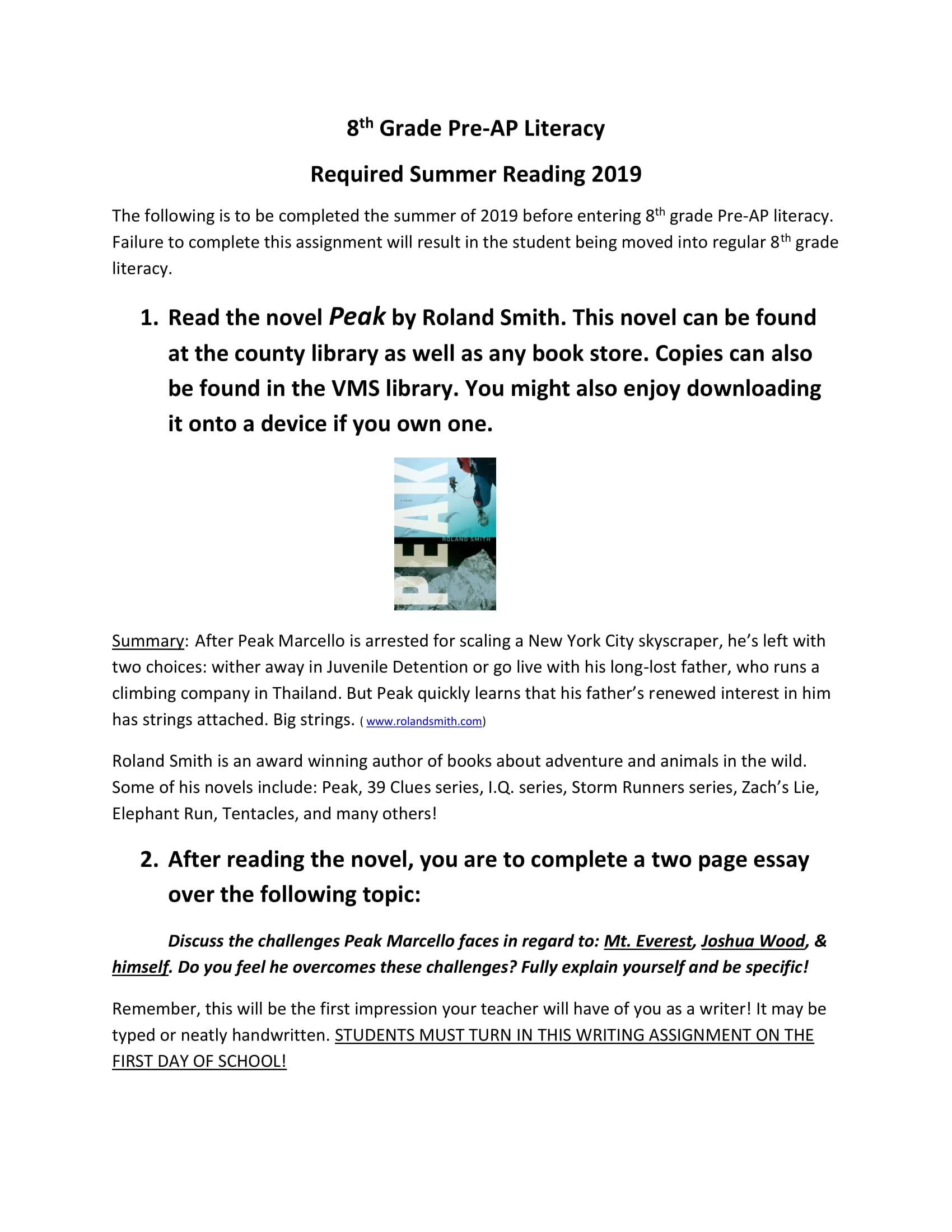 Pre-AP summer Reading Peak handout.jpg