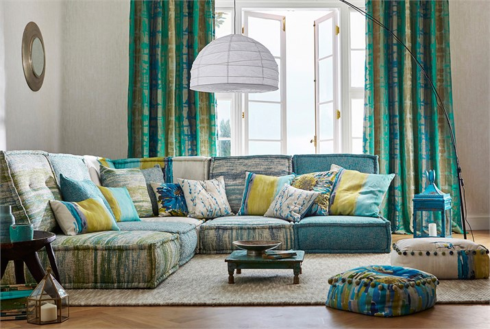 7-Harlequin-fauvisimo-fabric-flux-striped-green-gold-sgraffito-plain-upholstery-blue-green-luxurious-living-room-cushions.jpg