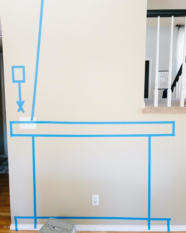 When in doubt, tape it out! #fireplace #design