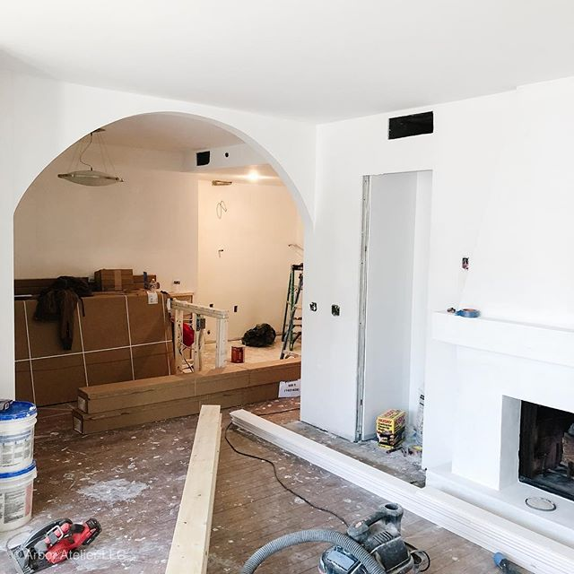 Slowly but surely taking shape! This client contacted me almost a year ago regarding this condo renovation. Good things come to those who are willing to patiently enjoy the process. Good design takes time and thoughtfulness!  #coloradosprings #interiordesigner #designbuild #colorado #coloradospringsdesigner #dcdesigner #dcrealestate #denver #customfireplace #customarches #customeverything