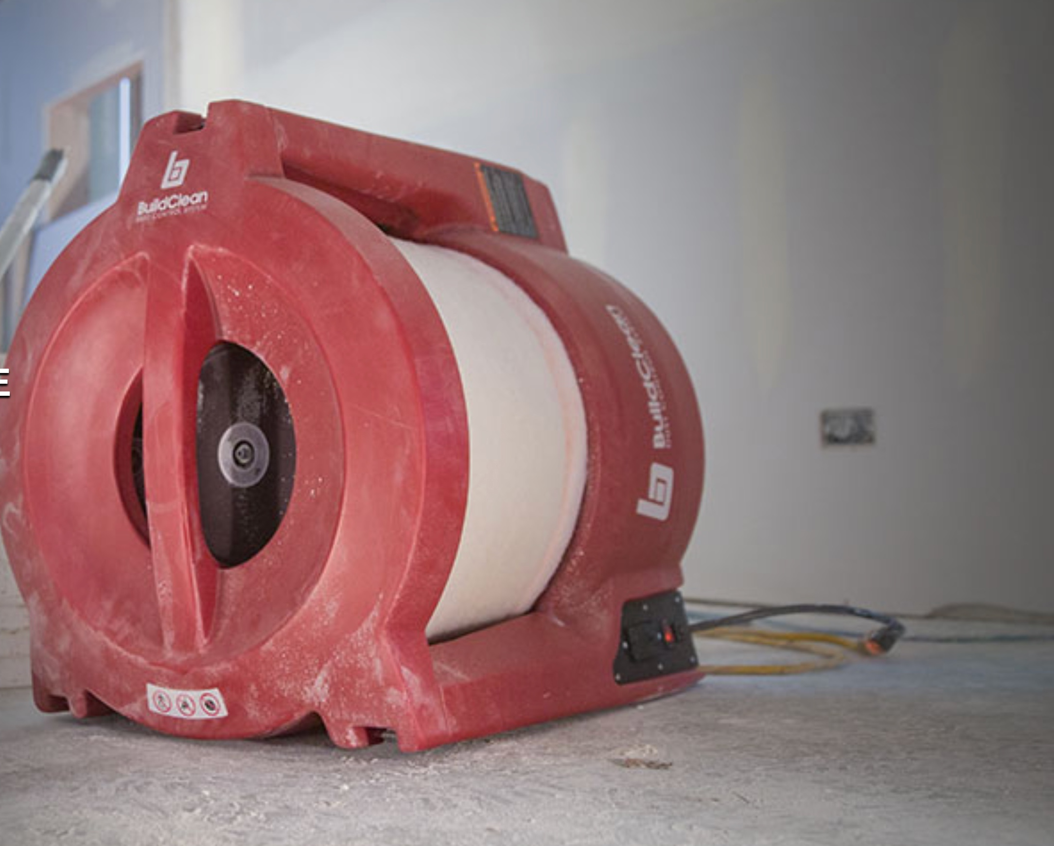 Clean Air - Job sites are dusty. We eliminate 90% of airborne dust through our Build Clean HEPA Air Scrubbers. Our machines use a fan to draw in dirty air, passes it through a two stage filtration system, captures the dust, and returns the clean air into the room. We care about job site air conditions for both our crew and our clients.