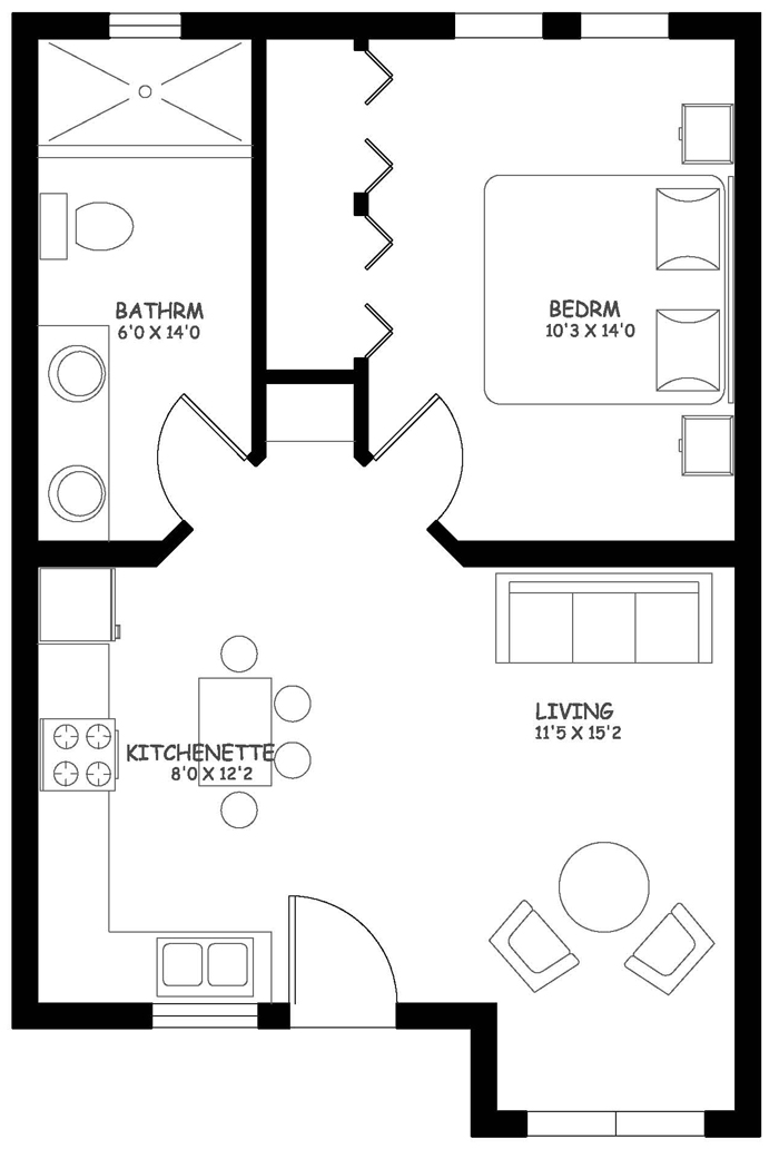 One Bedroom Castia Expansion Full Back Wall for $10,000USD addiional