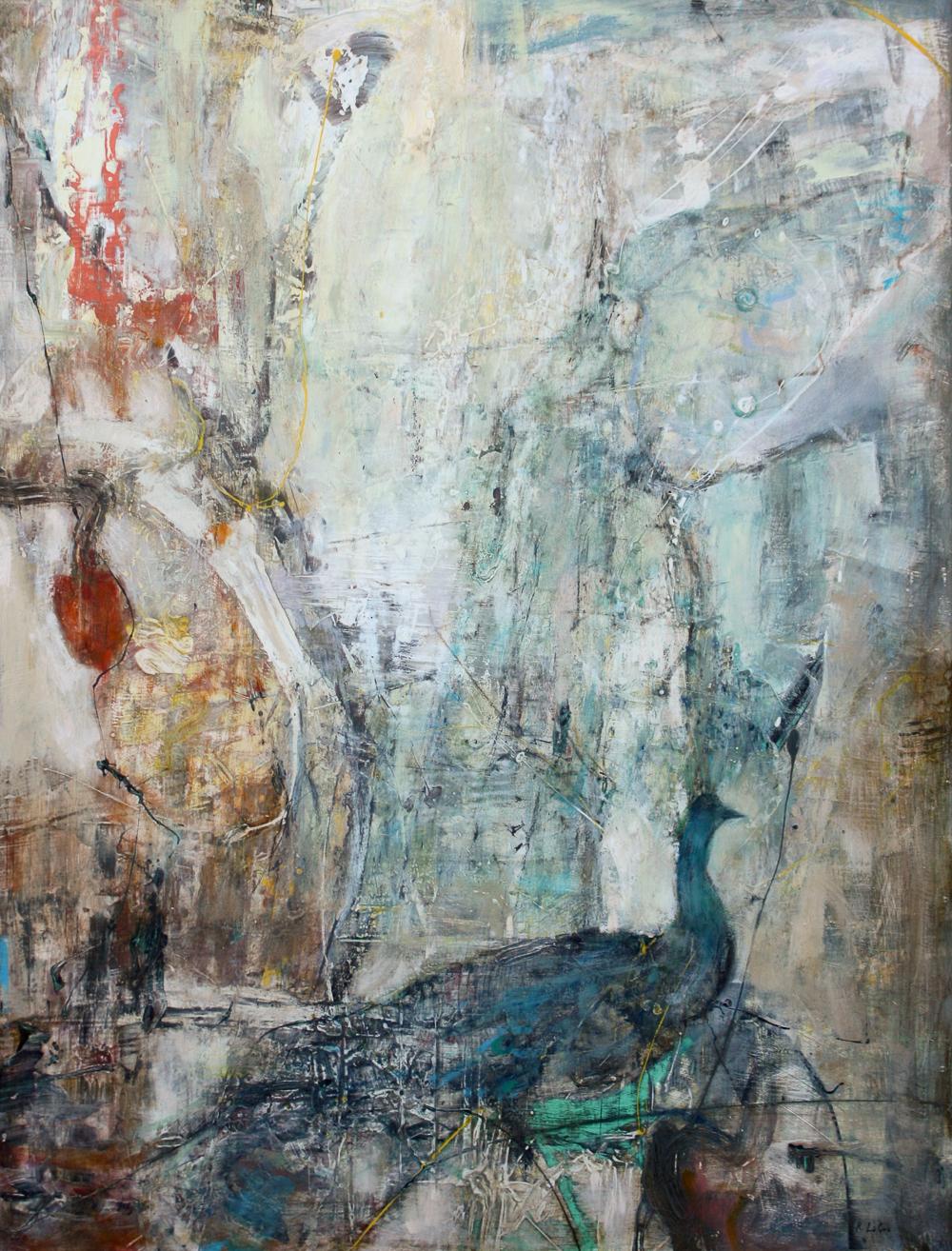"Nature's Delicate Balance, 46""x35"", 2012"