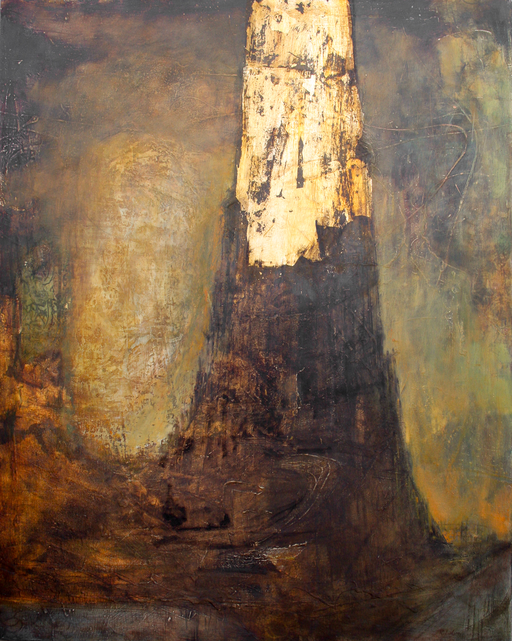 """The Tower II, 50""""x40"""", 2008"""
