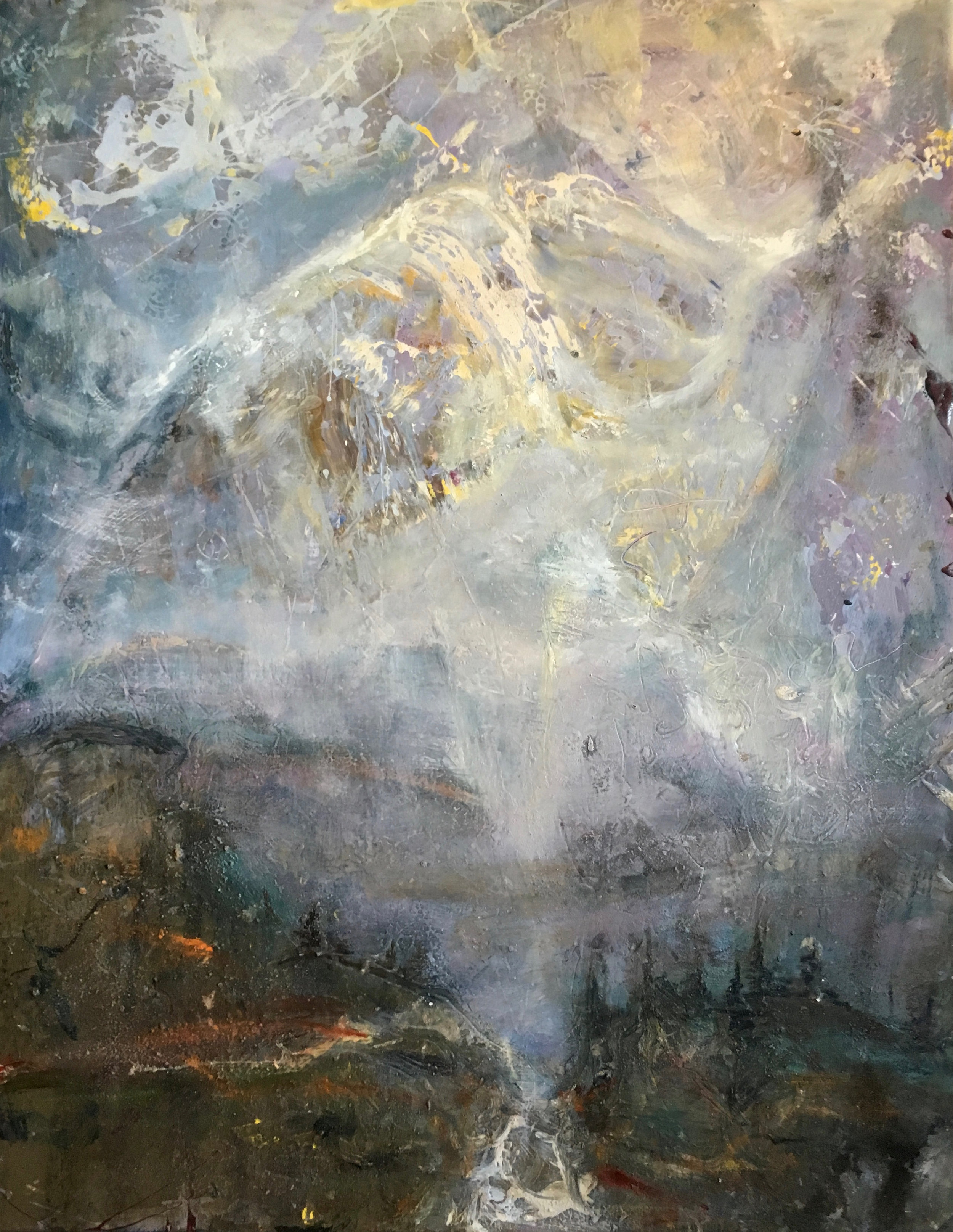 """Mountain Aire, 46""""x36"""""""