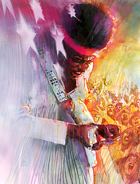 Jimi Hendrix by Bill Sienkiewicz.