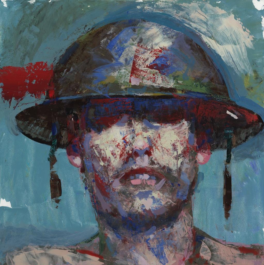 A soldier by graphic novel artist, George Pratt.